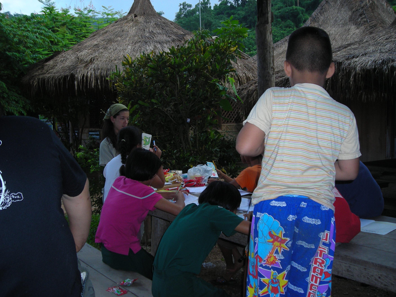 Thailand Elephant Camp Chiang Mai Teaching English