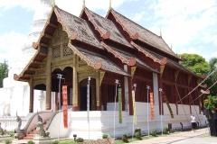 Thailand Elephant Camp Chiang Mai Temple