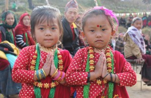 Tamu Lhosar Festival Nepal Children