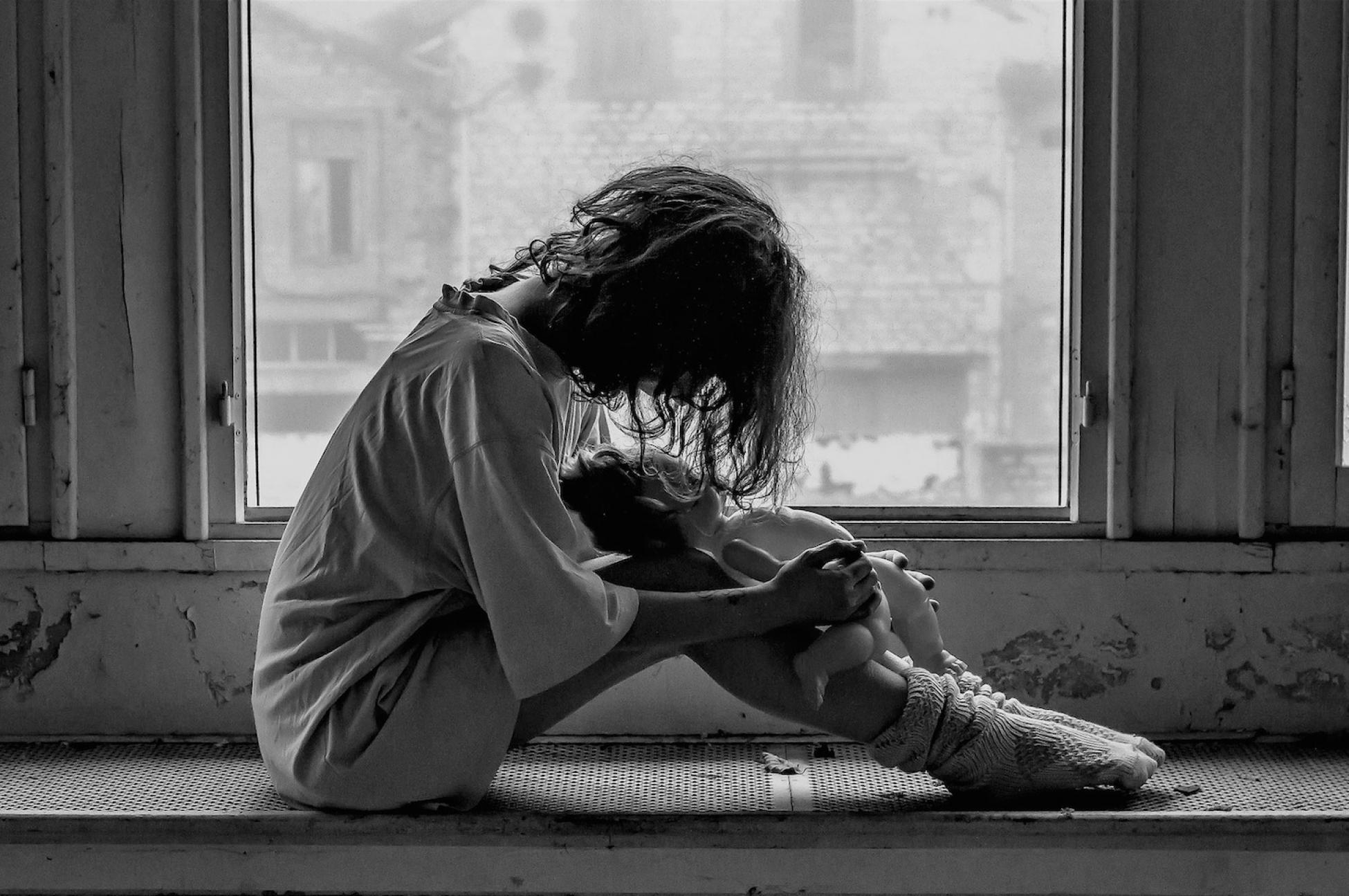 Anti-Trafficking Girl in Window