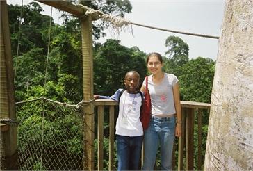 Ghana Volunteer Kaitlyn Scott at Kakum National Park