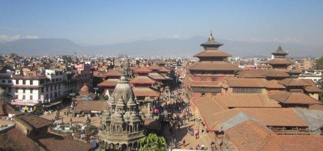 Rooftop View in Kathmandu, Nepal