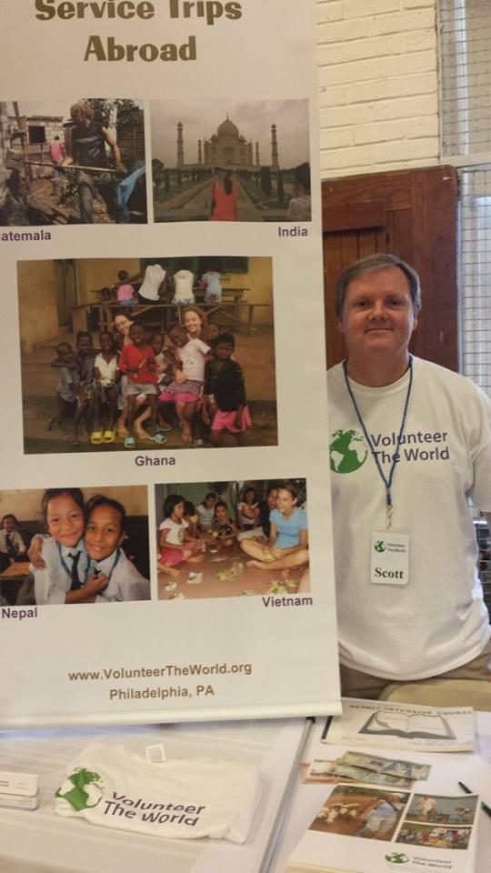 Scott Burke at USA Gap Year Fair at Penn Charter School 2016